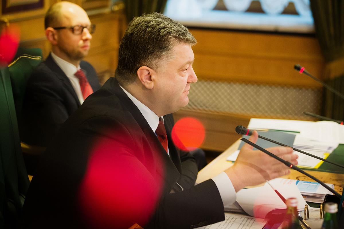 Петр Порошенко и Арсений Яценюк. Фото АП
