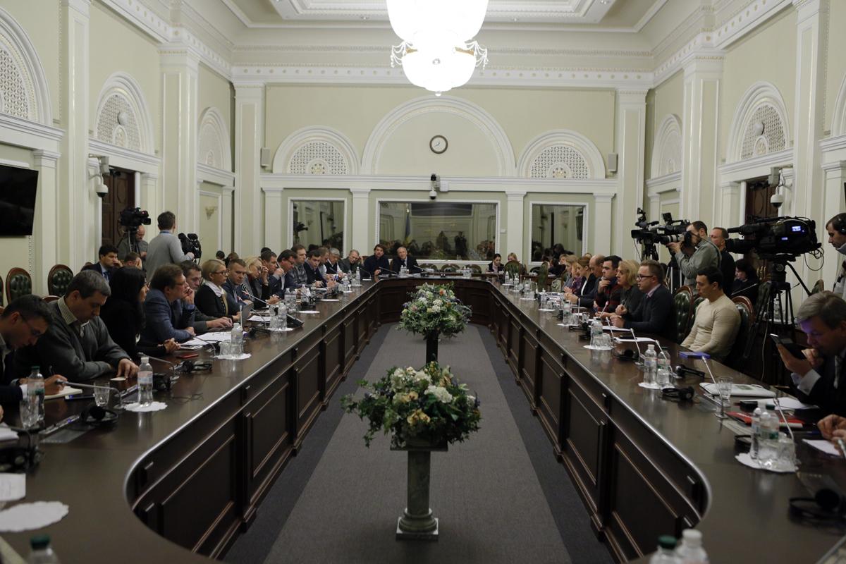 Обманутые вкладчики на встрече с Тимошенко