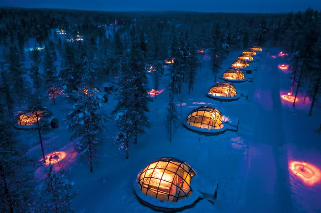 Отель Kakslauttanen Igloo в Финляндии. Фото: Tarja Mitrovic