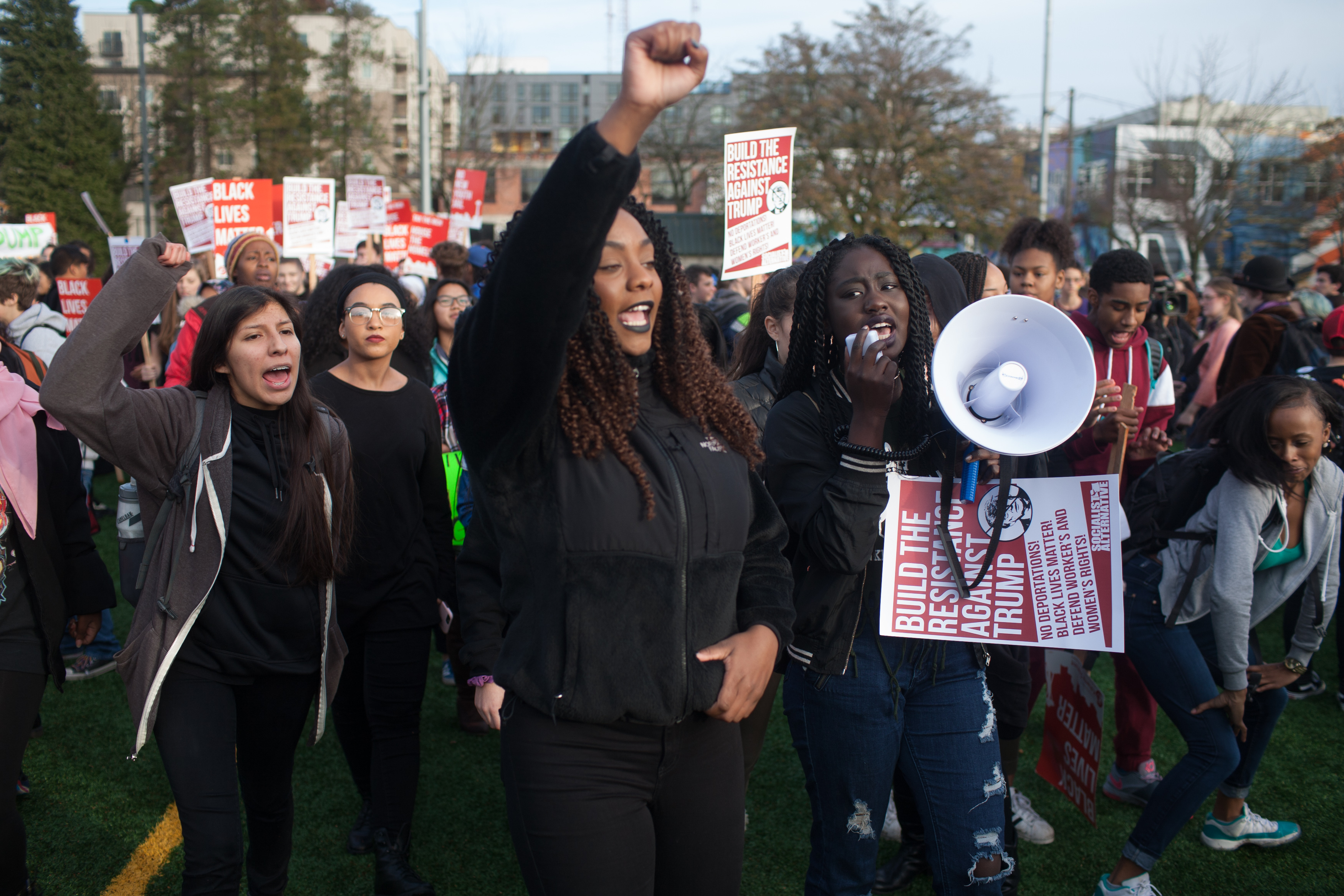 Протесты в США против избрания Дональда Трампа президентом. Фото: EPA/MATT MILLS MCKNIGHT