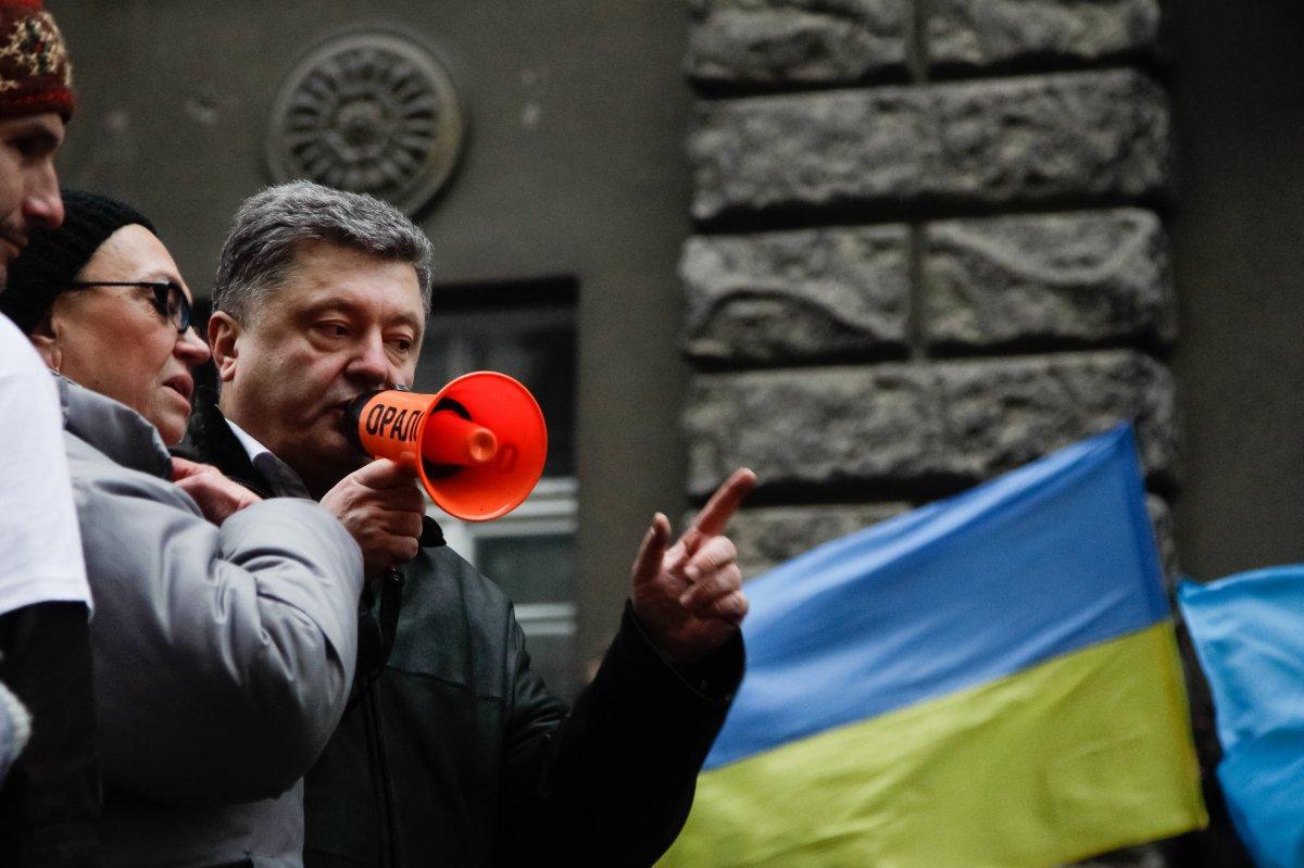 Пётр Порошенко на Банковой 1 декабря 2013-го года. Фото: УНИАН