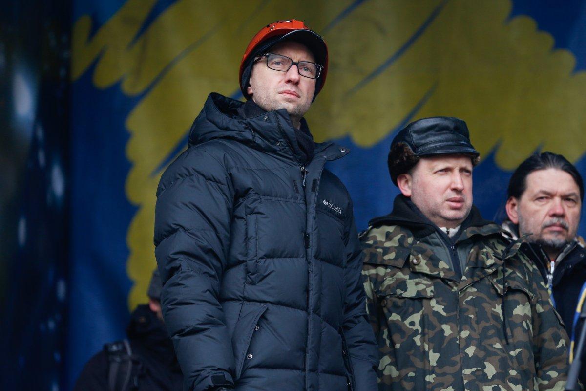 Александр Турчинов и Арсений Яценюк. Фото: УНИАН