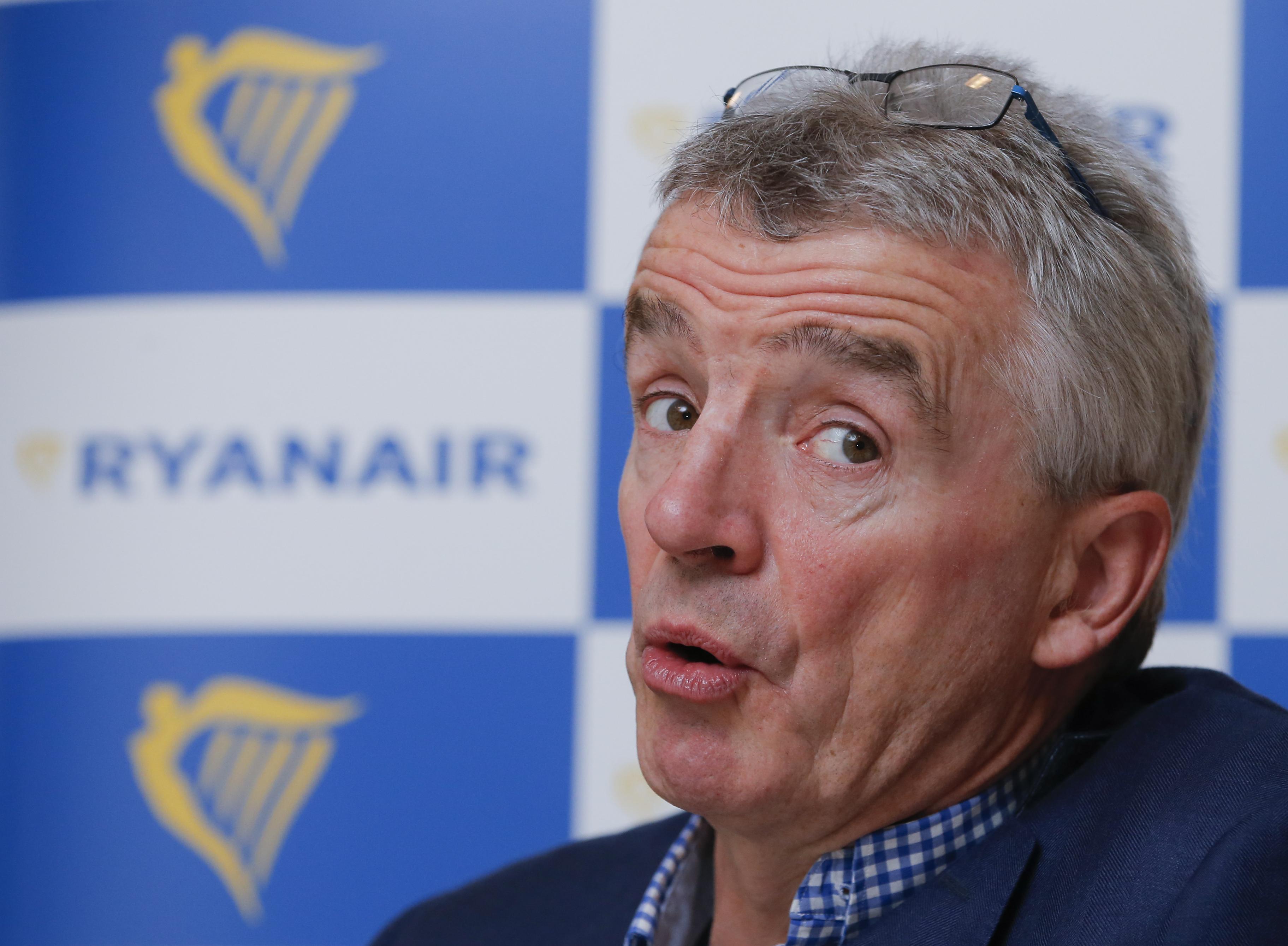 Генеральный директор авиакомпании Ryanair Майкл О'Лири. Фото: EPA/OLIVIER HOSLET