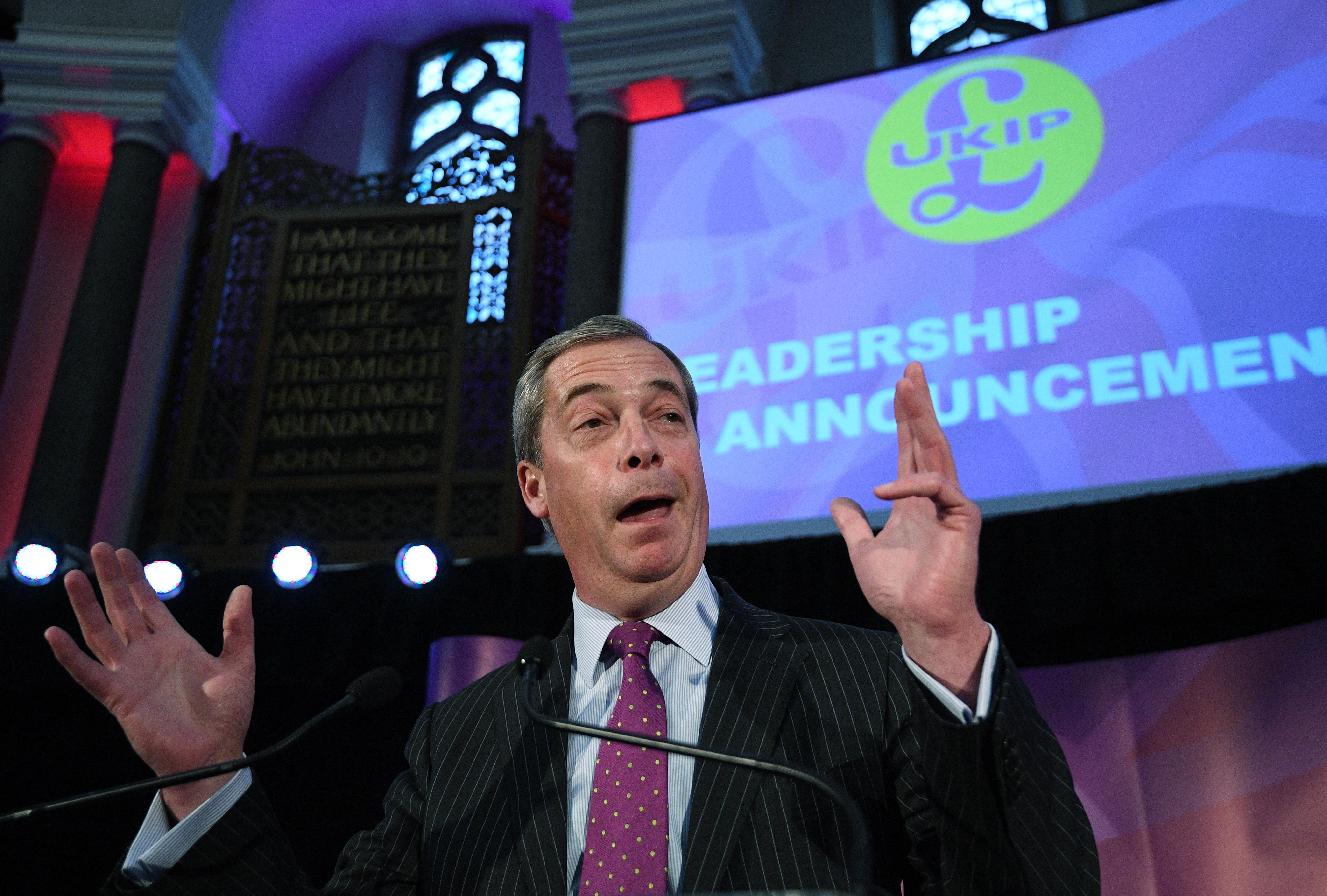 """Лидер """"Партии независимости Соединенного Королевства"""" Найджел Фарадж. Фото: ЕРА"""