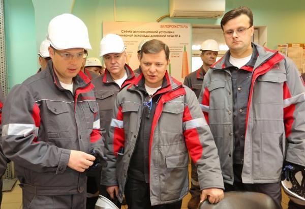 Олег Ляшко (по центру) и Виктор Галасюк (справа)