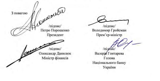 Подписанты меморандума с МВФ