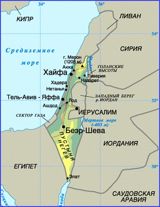 """Карта Израиля. Фото """"Александрия-Тур"""""""