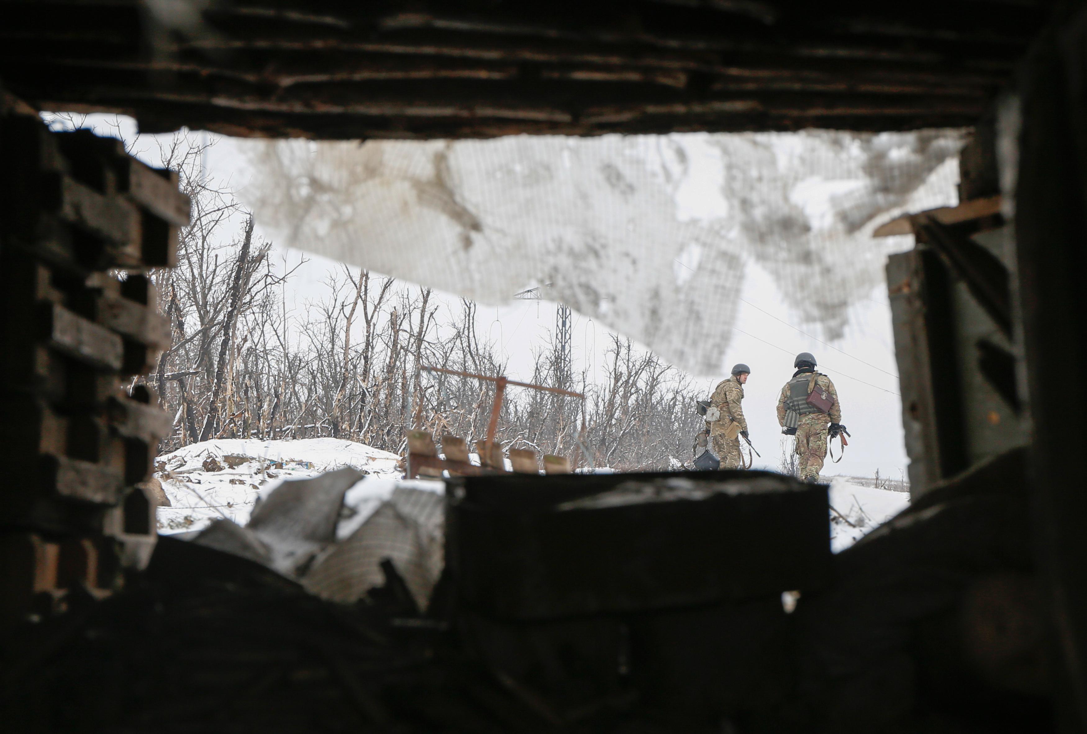 Война на востоке Украины. Фото: EPA