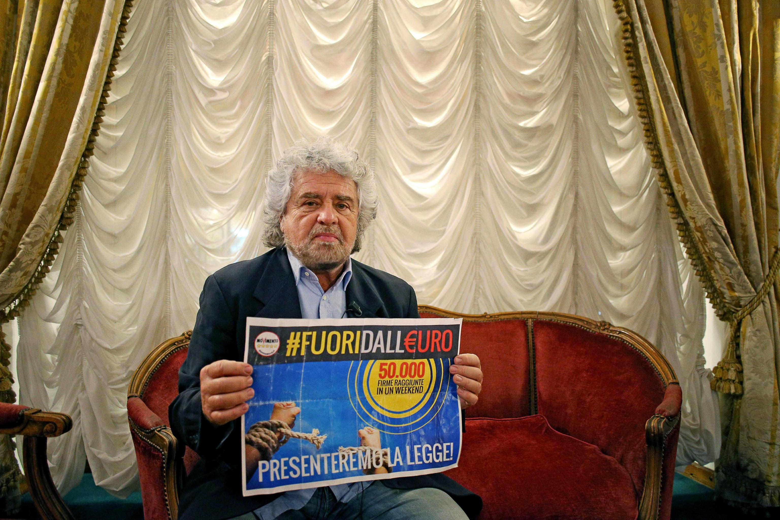 """Лидер движения """"5 звезд"""" Беппе Грилло. Фото: EPA"""