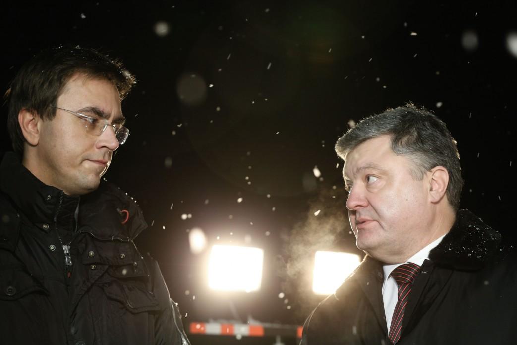 Министр инфраструктуры Владимир Омелян и президент Петр Порошенко