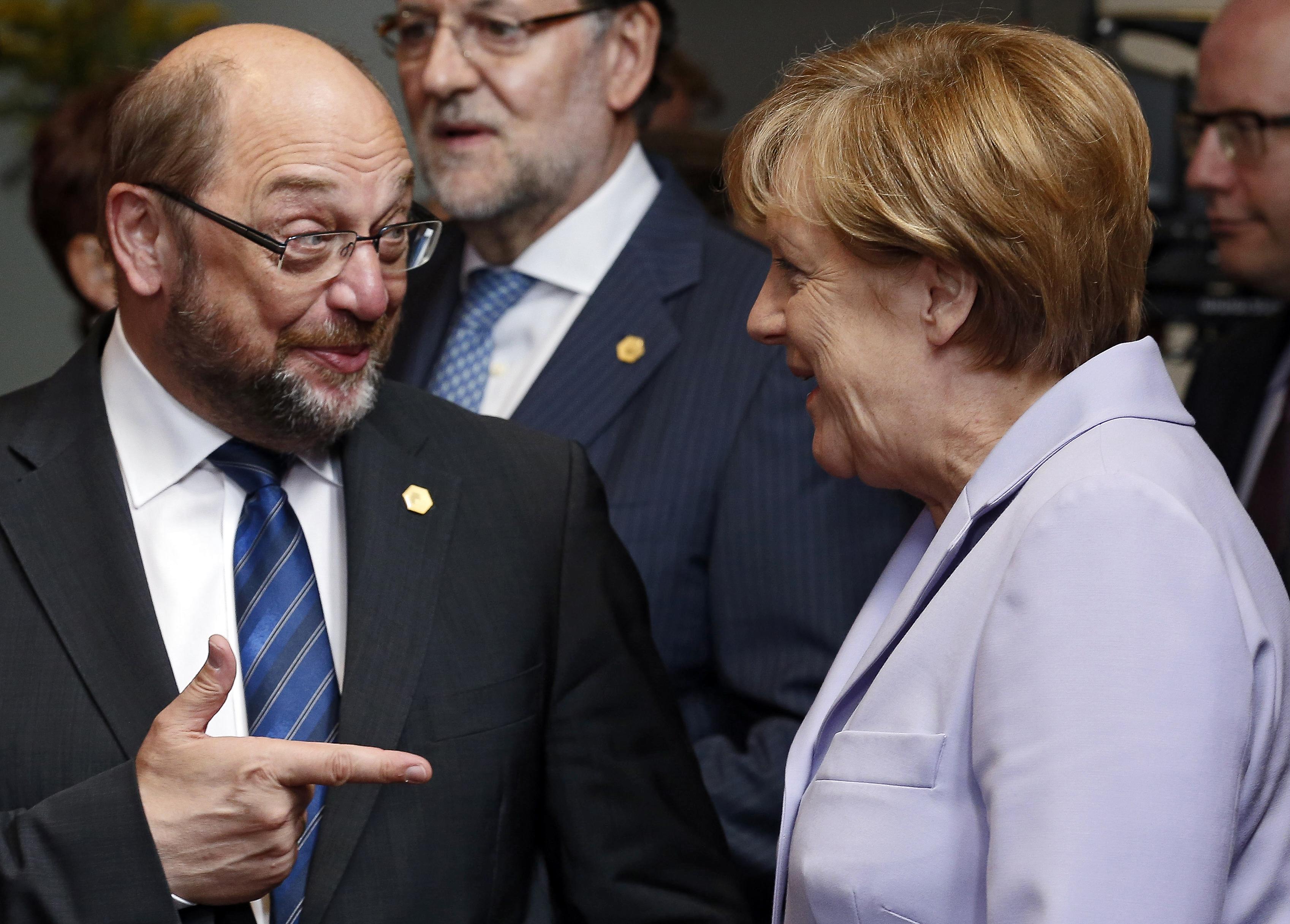 Мартин Шульц и Ангела Меркель. Фото: EPA