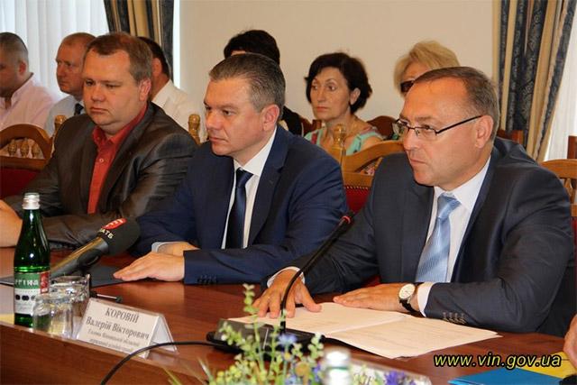 Мэр Винницы Сергей Моргунов и губернатор Винницкой области Валерий Коровий