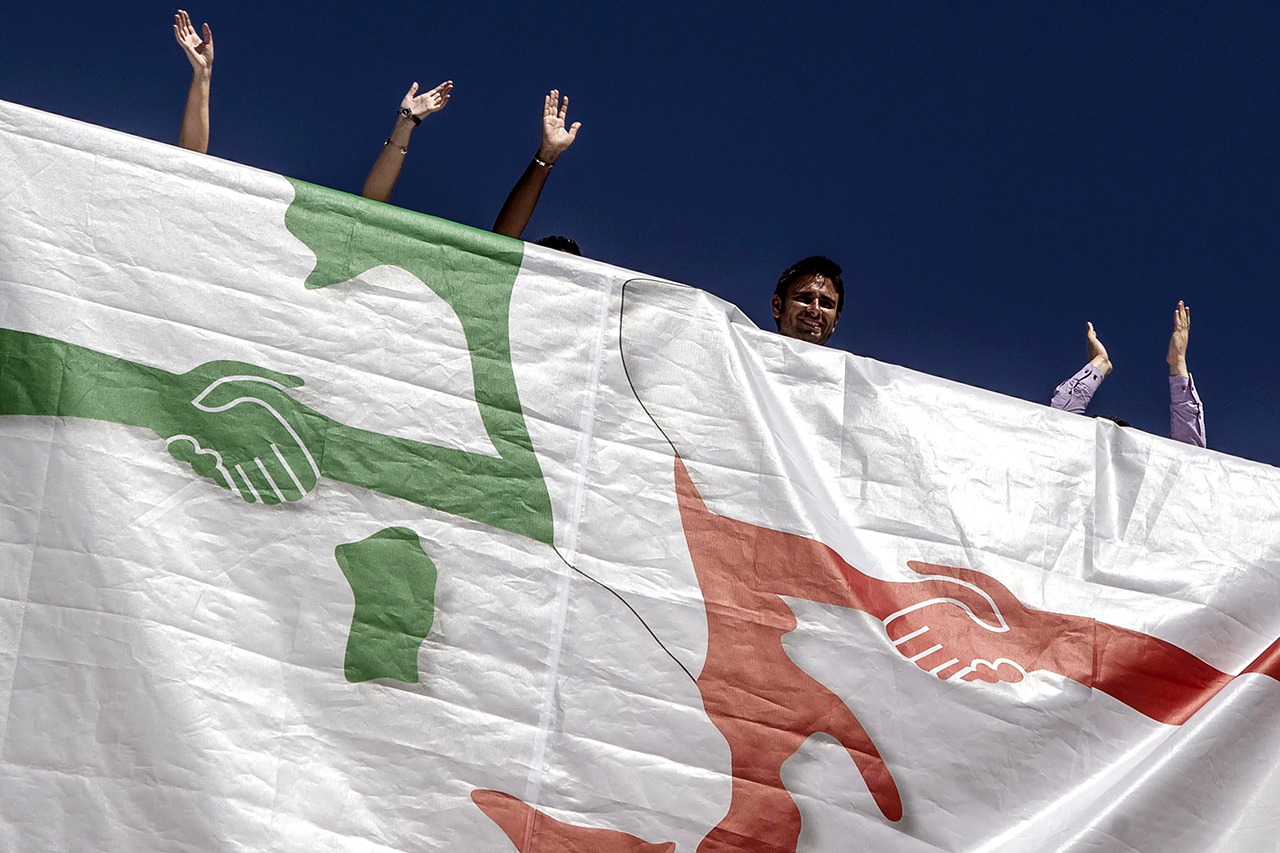 Движение «5 Звезд» может серьезно навредить репутации евро. Фото: EPA/ANGELO CARCONI