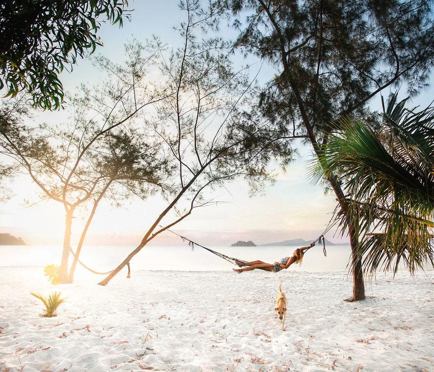 Восход солнца на острове Ронг, Камбоджа