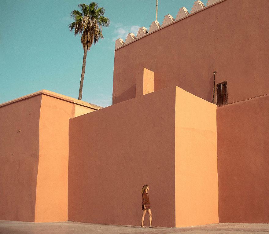 Закат солнца в Марракеше, Марокко