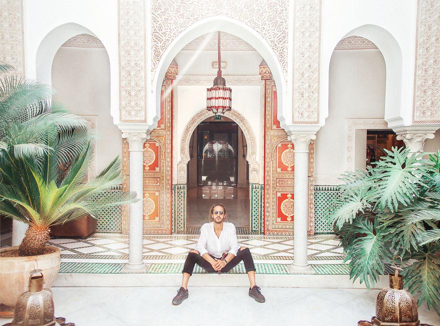 Один из самых красивых отелей Мamounia. Марракеш, Марокко