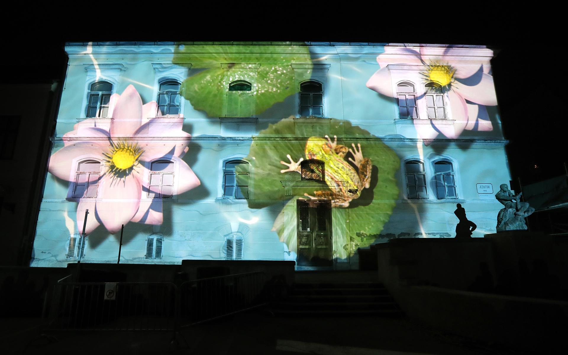 1-й Фестиваль света в Загребе, Хорватия, 16 марта 2017 года. EPA / ANTONIO BAT