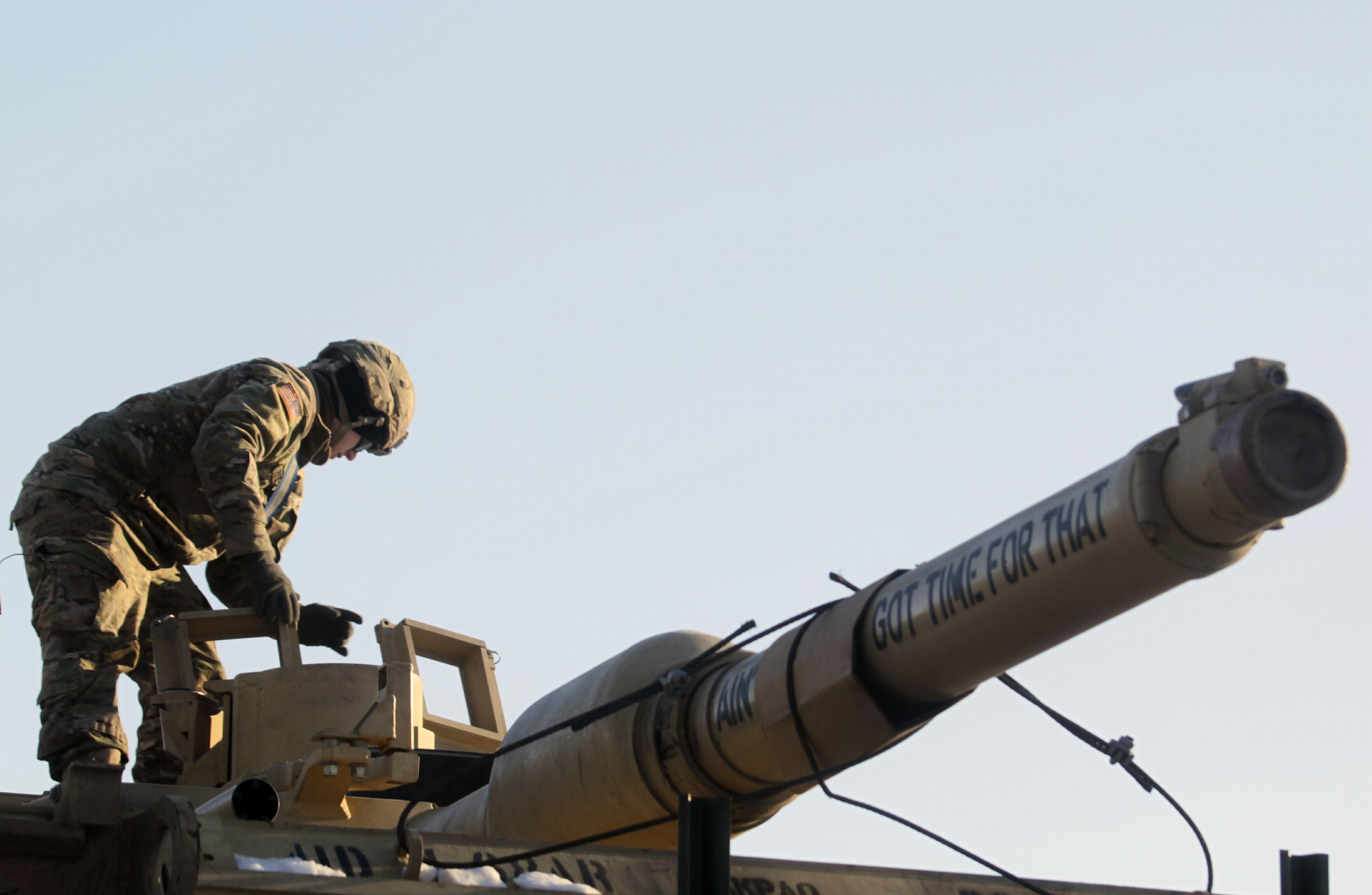 3-я бригада американских солдат в Латвии. Фото: EPA