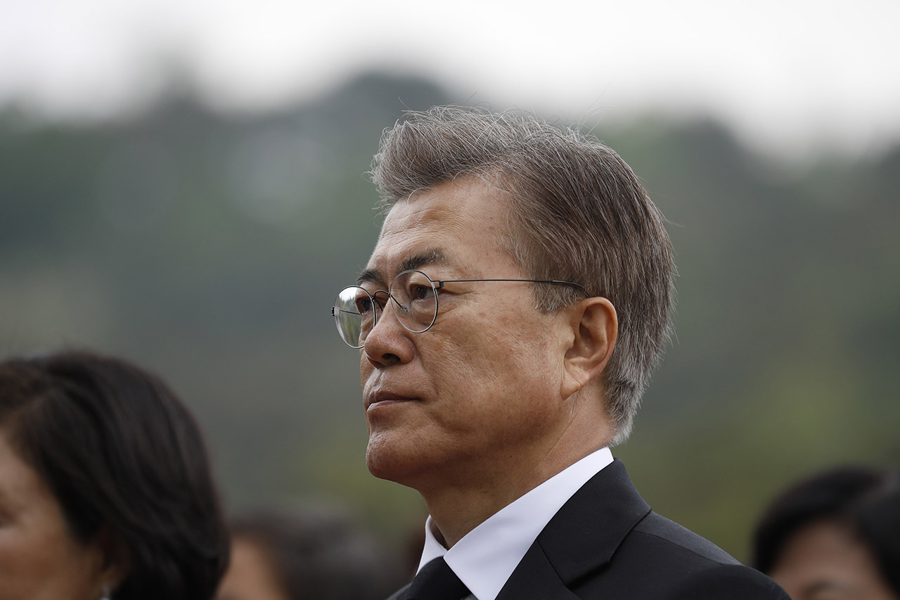 Мун Джэ Ин. Фото: EPA/KIM HONG-JI / REUTERS / POOL