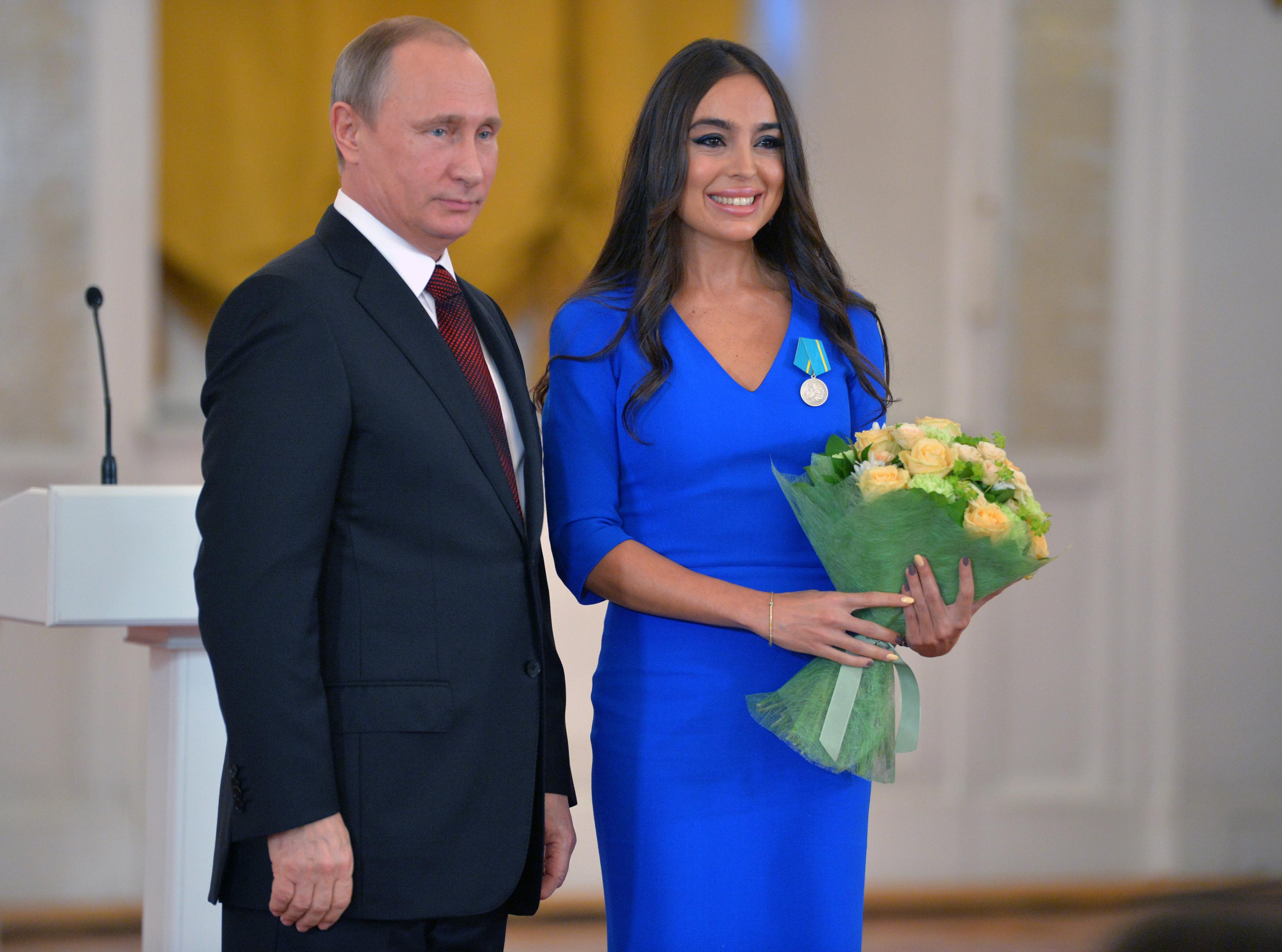 Президент РФ Владимир Путин и Лейла Алиева. Фото: EPA