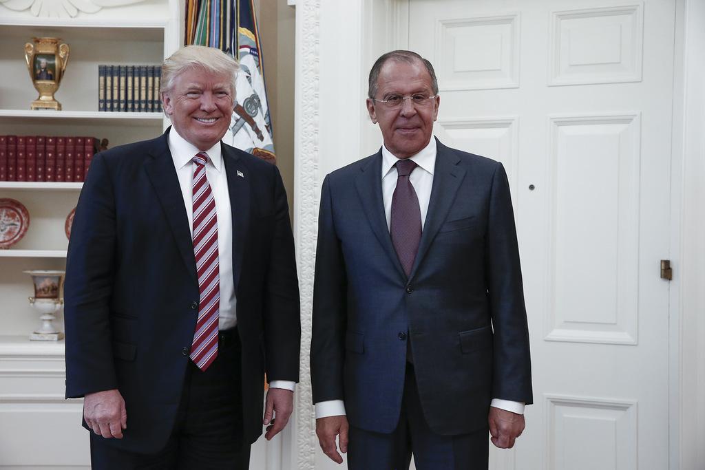Президент США Дональд Трамп и министр иностранных дел России Сергей Лавров. Фото: EPA