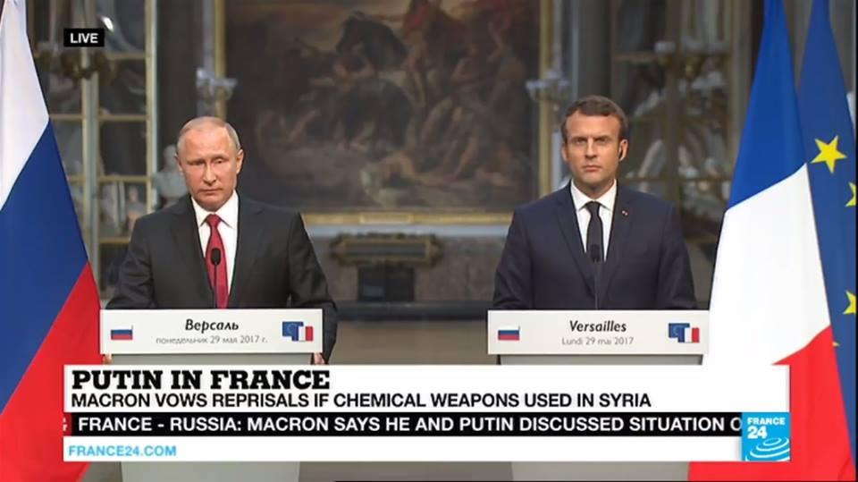 На пресс-конференции президенты Франции и России не стеснялись размениваться колкостями