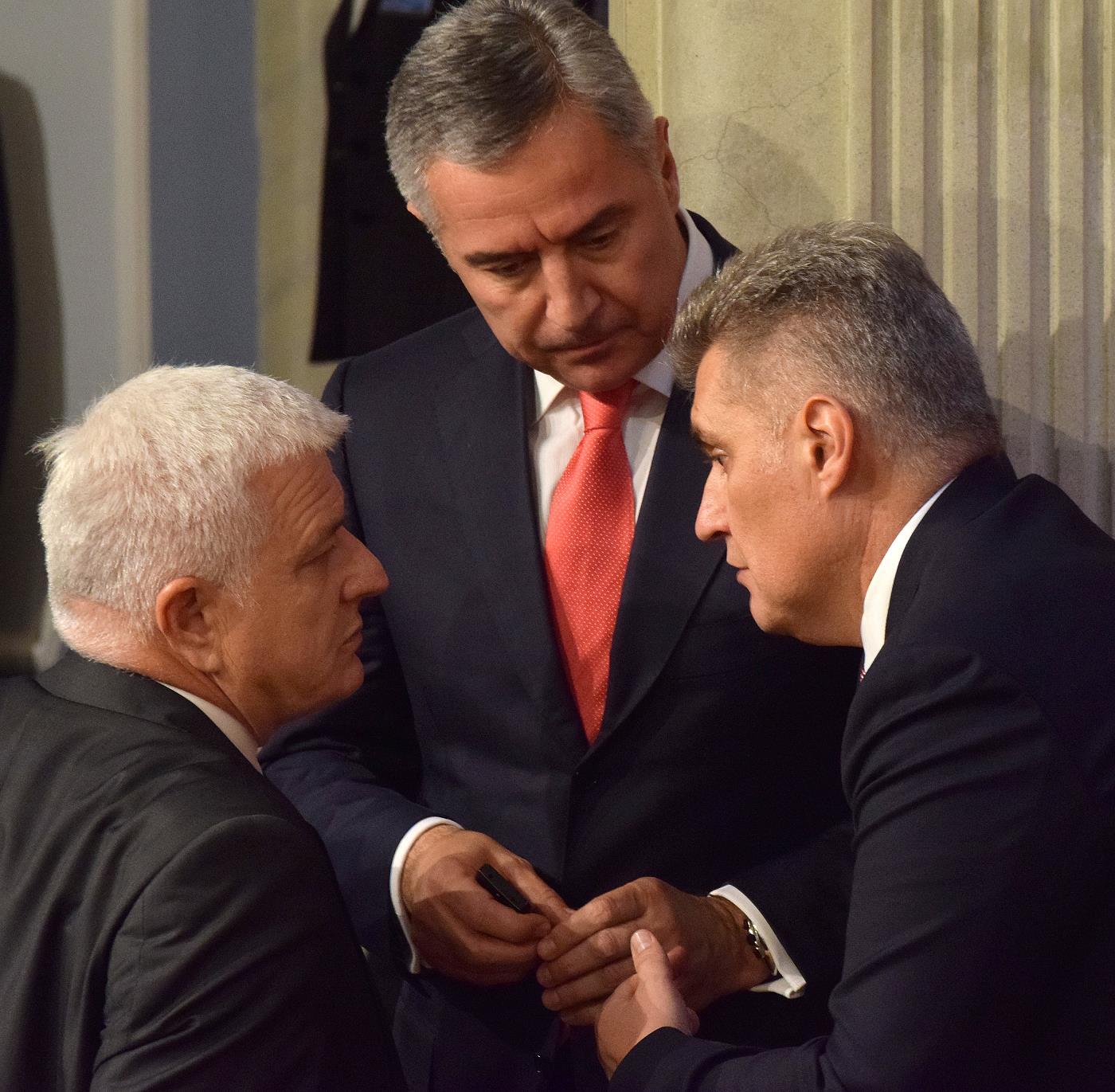 Маркович, Джуканович и Брайович. Фото EPA