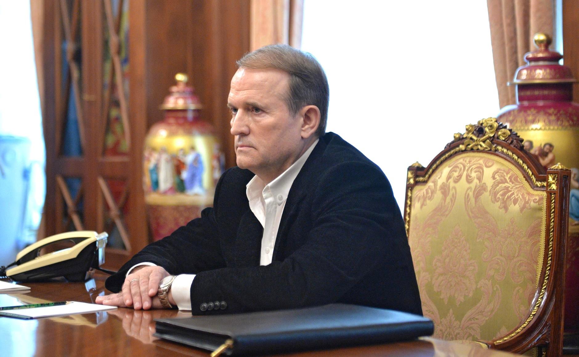 Медведчук в кабинете Путина. Wikipedia