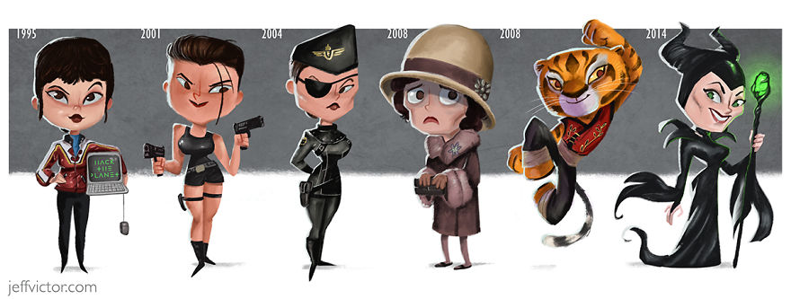 Эволюция Анджелины Джоли