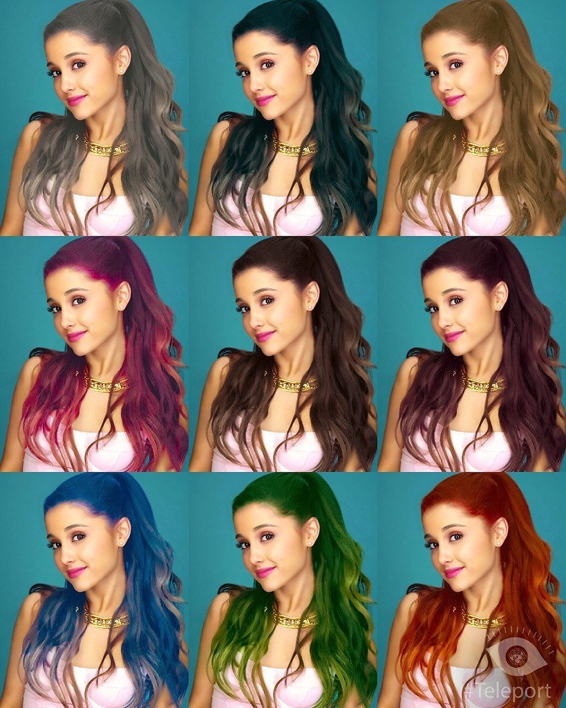 Программа онлайн меняет цвет волос