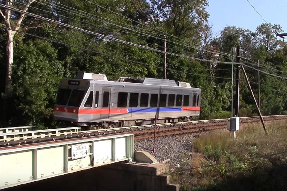 Вагон Norristown high-speed train line, где произошло столкновение / Иллюстрация - Youtube