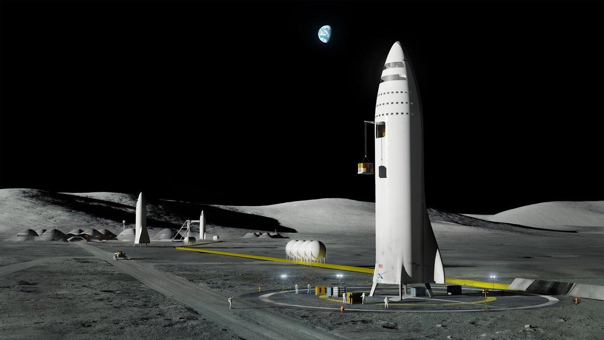 Лунная база / Источник: SpaceX