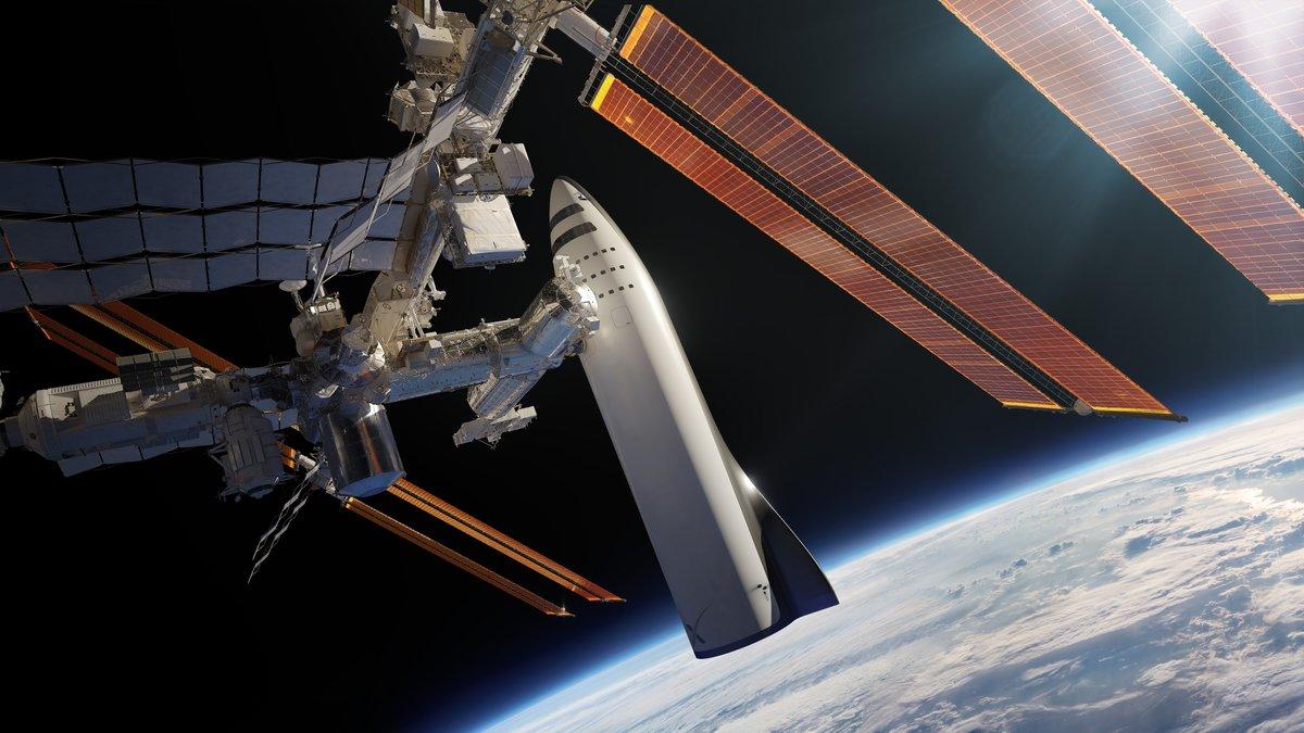 BFR обслуживает Международную космическую станцию / Источник: SpaceX