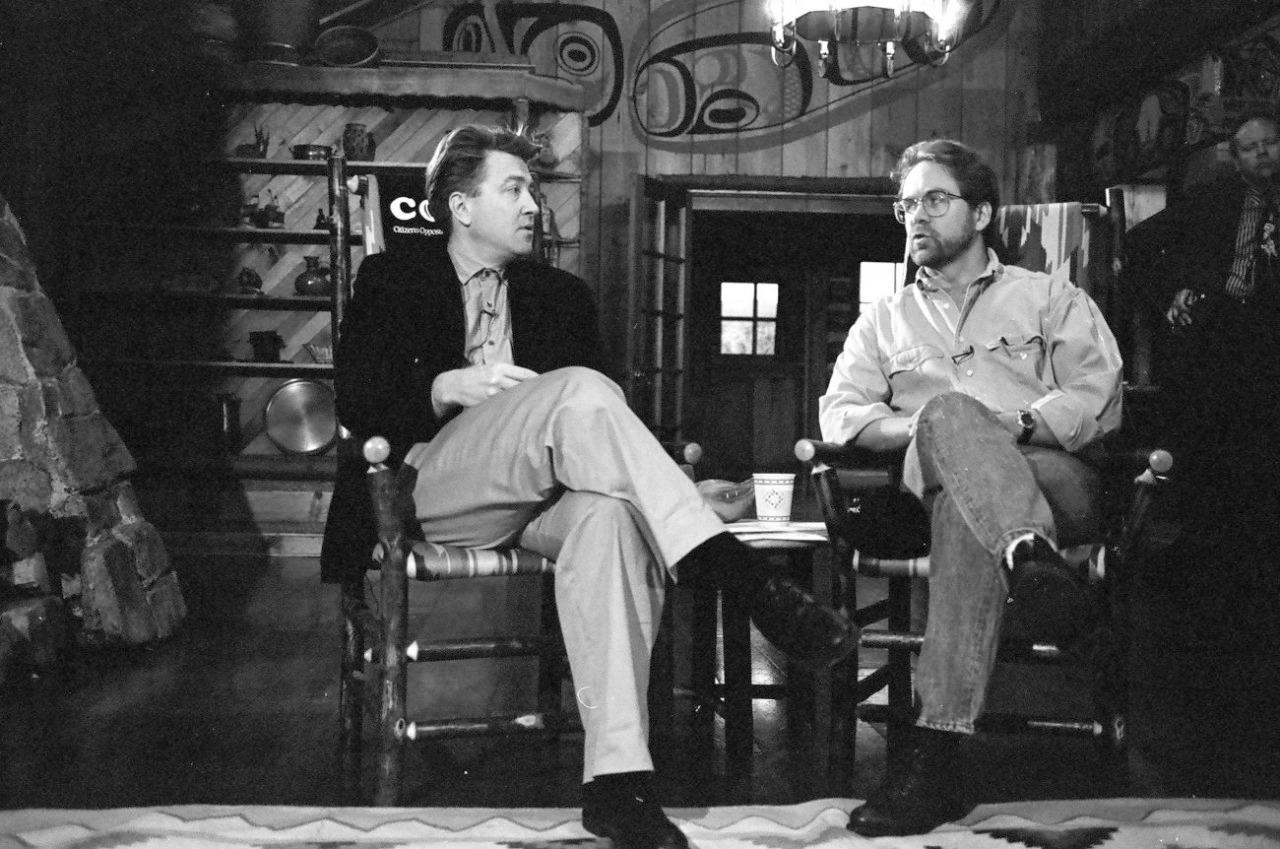 Марк Фрост и Дэвид Линч, 1990
