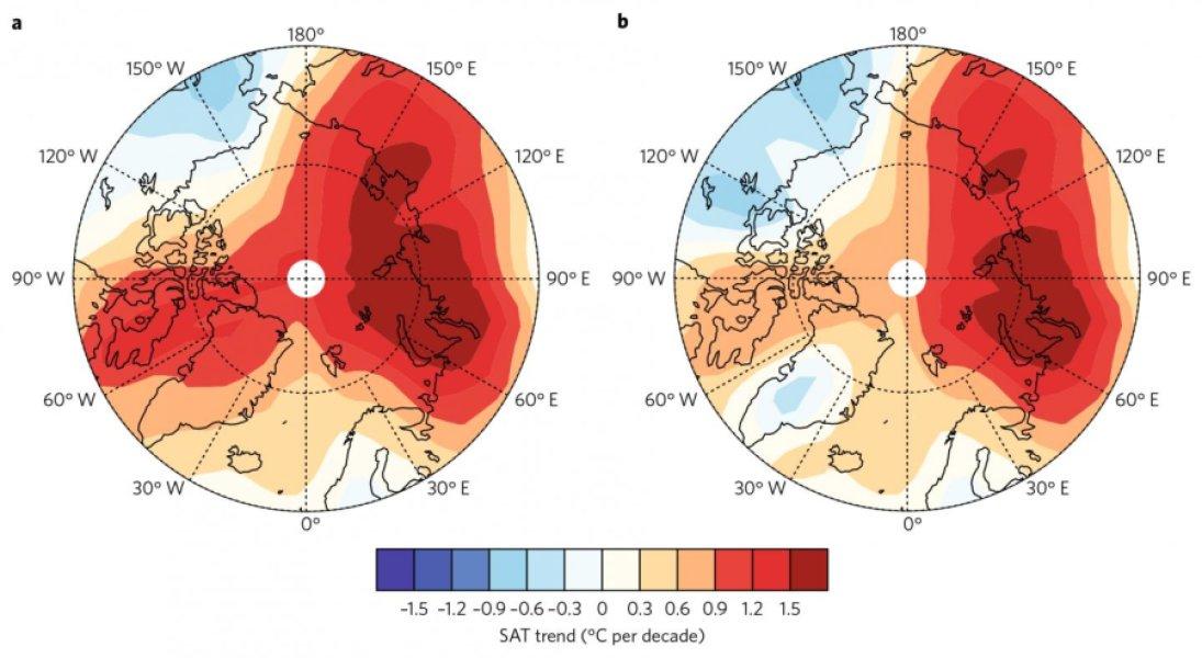 Эти цифры показывают глобальные коэффициенты потепления с включенными арктическими данными / Источник: University of Alaska Fairbanks