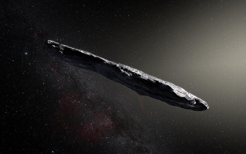 Так астероид Оумуамуа выглядит в представлении астрохудожника / Источник: Wikipedia
