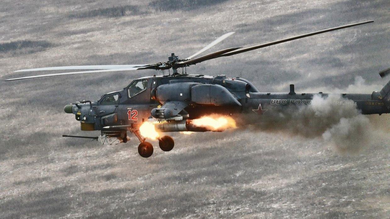 Российский ударный вертолет Ми-28Н в Сирии