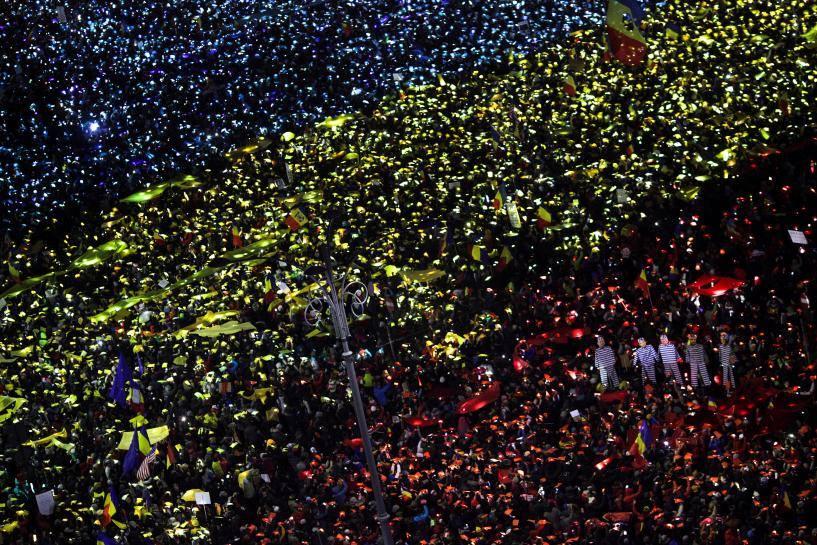 Протесты в Румынии / Источник: Facebook