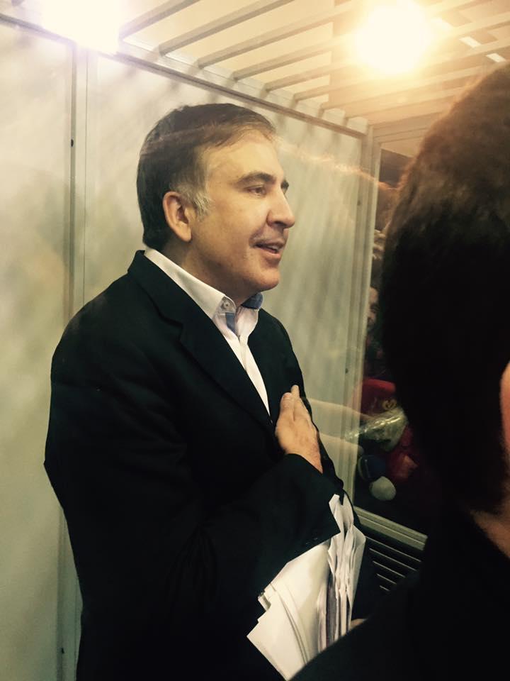 Михеил Саакашвили в суде / Источник: facebook.com/daryna.chyzh