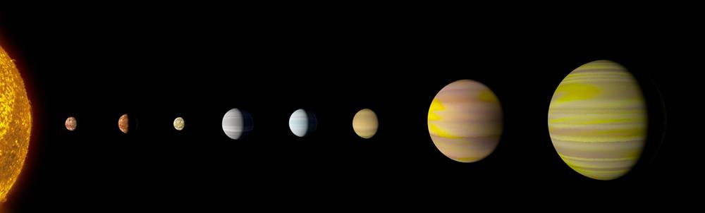С открытием восьмой планеты система Кеплер-90 сравнялась с Солнечной системой по количеству планет / Источник: NASA
