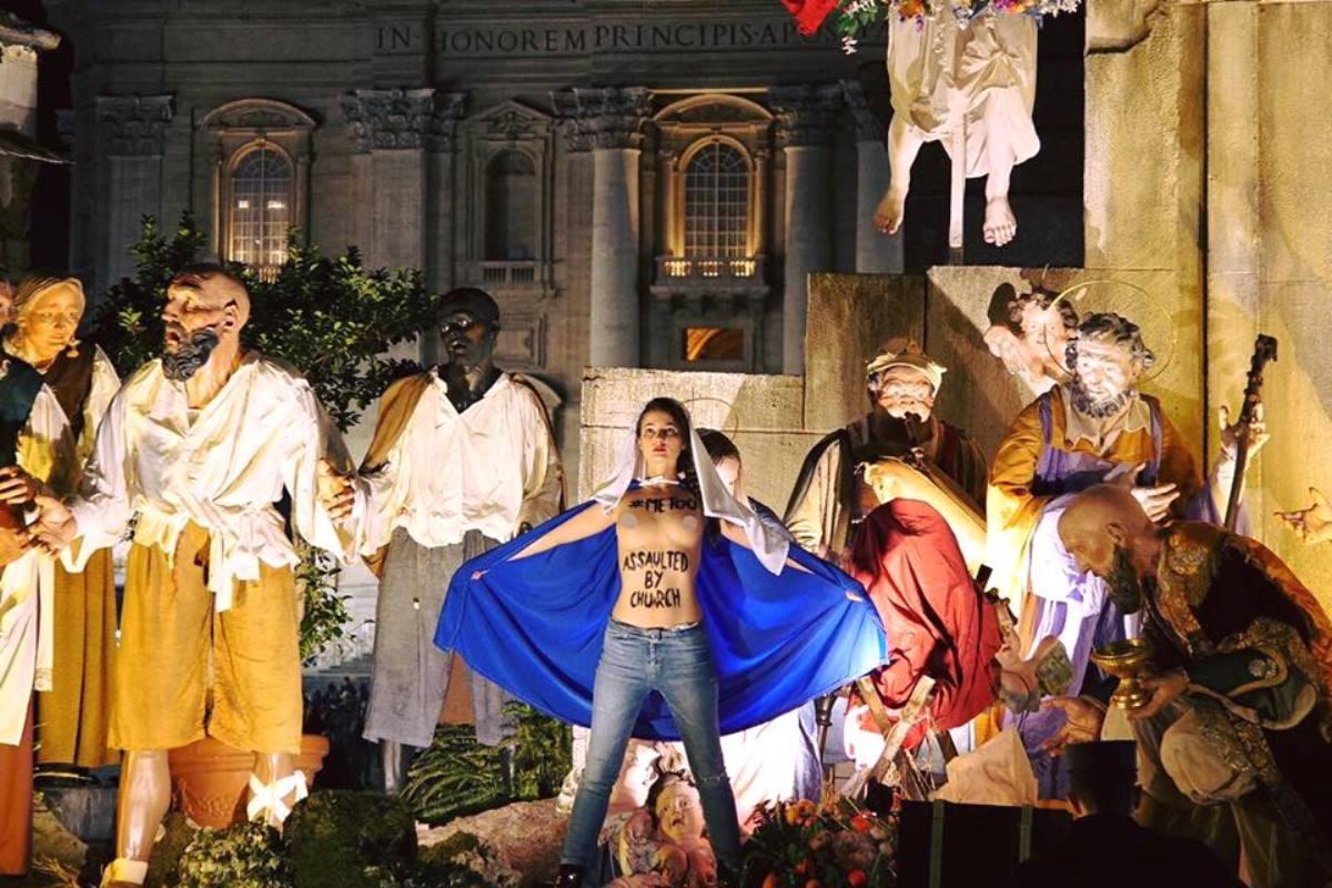 Участницы движения Femen сообщили опроведении акции вВатикане