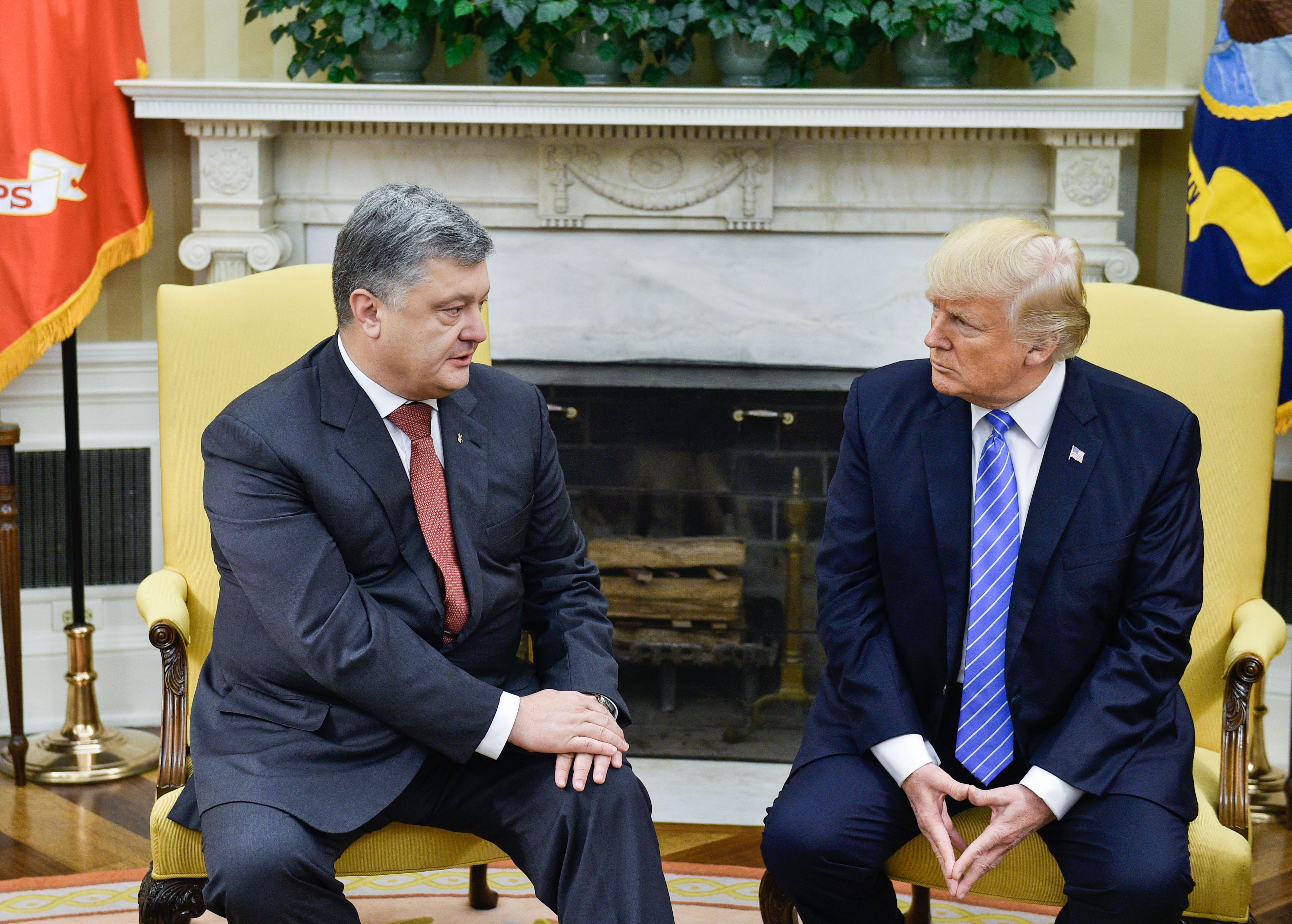 Петр Порошенко и Дональд Трамп / Источник: http://www.president.gov.ua