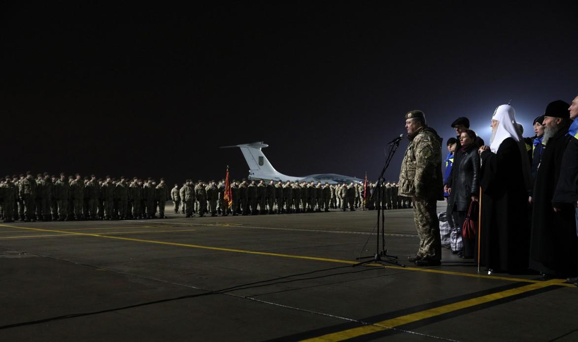 Встреча освобожденных из плена украинских военных / Источник: http://www.president.gov.ua