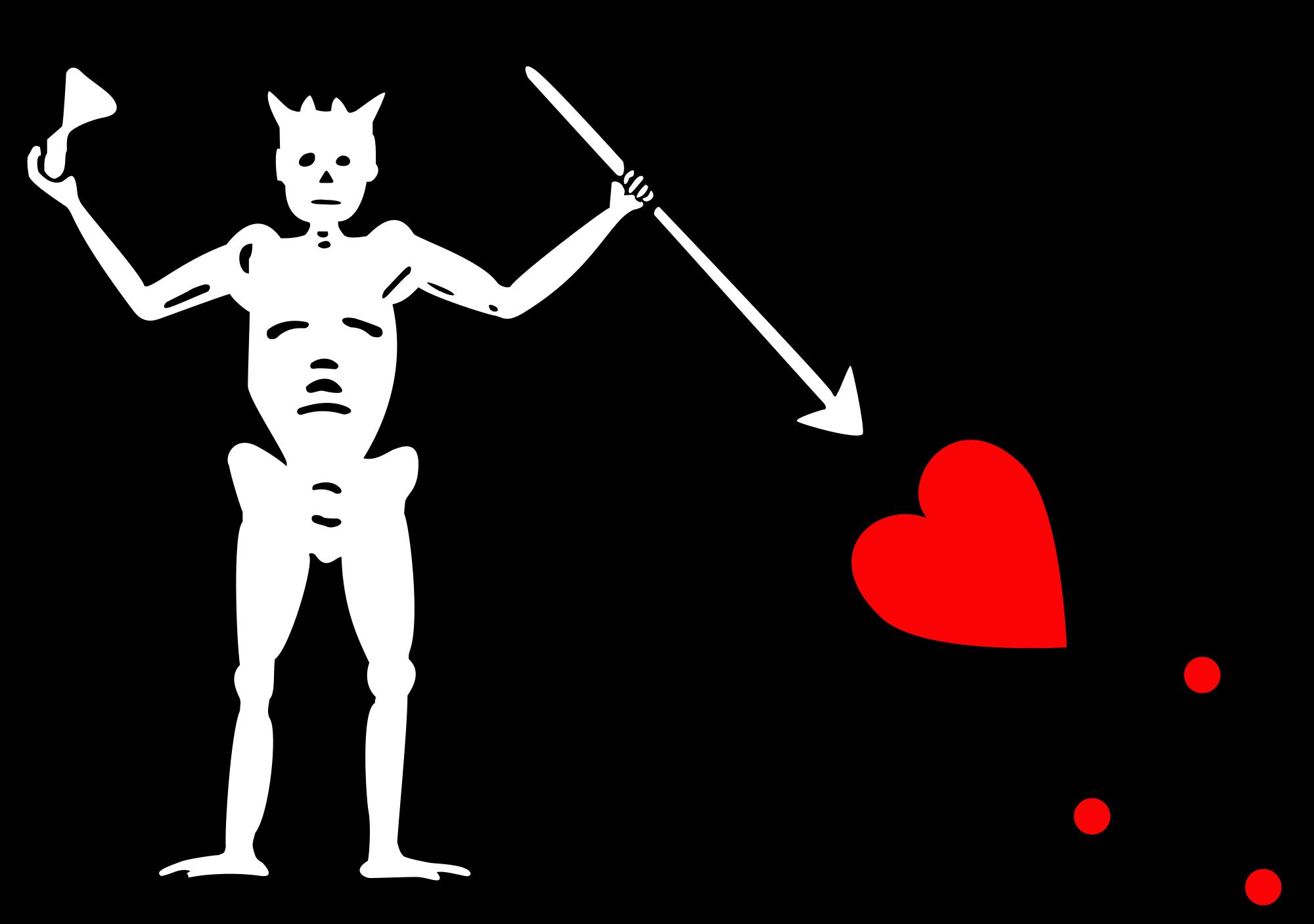 Флаг пиратов Черной бороды / Источник: Wikipedia