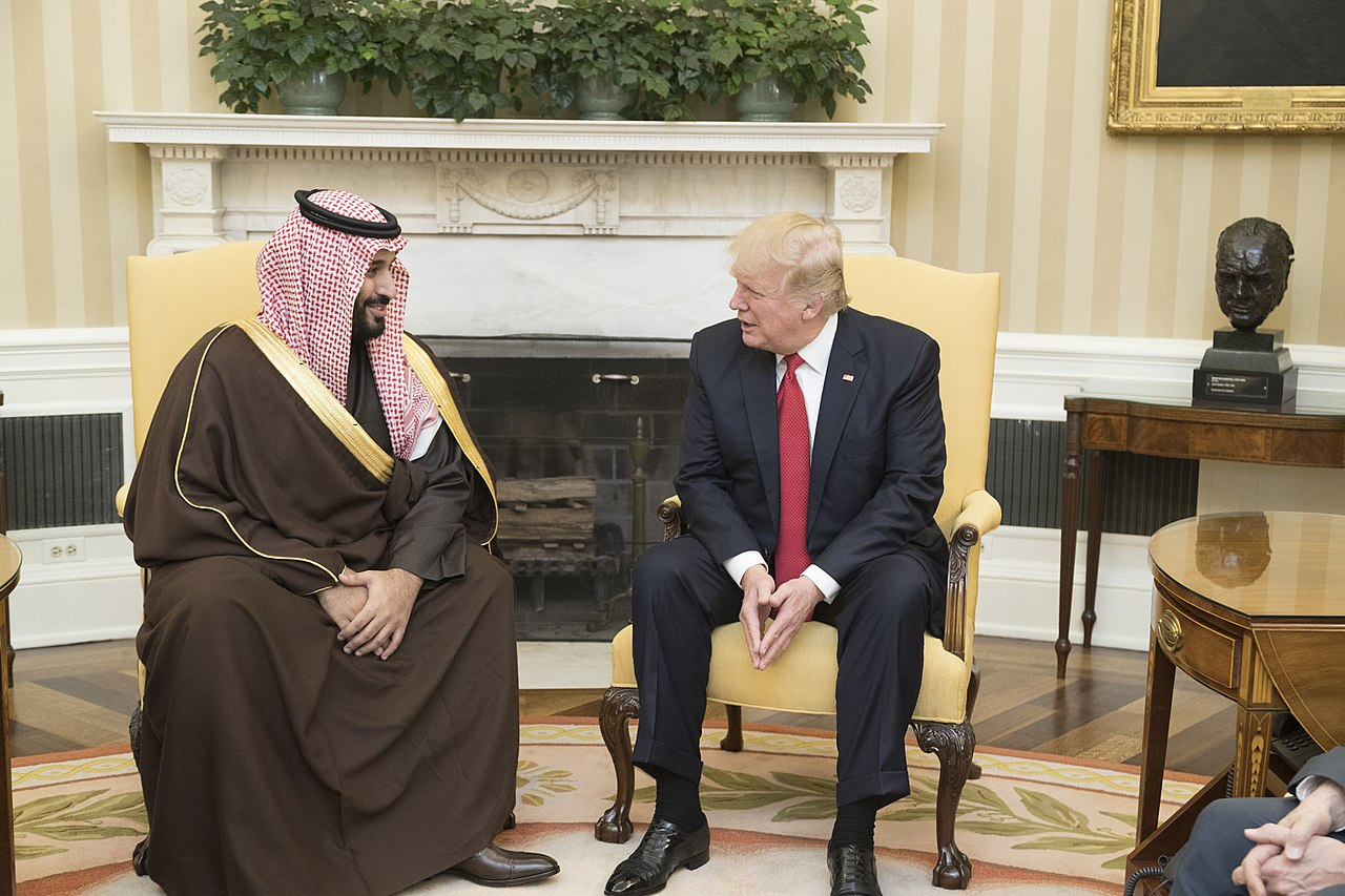 Мухаммед ибн Салман и Дональд Трамп. Вашингтон, 14 марта 2017 года