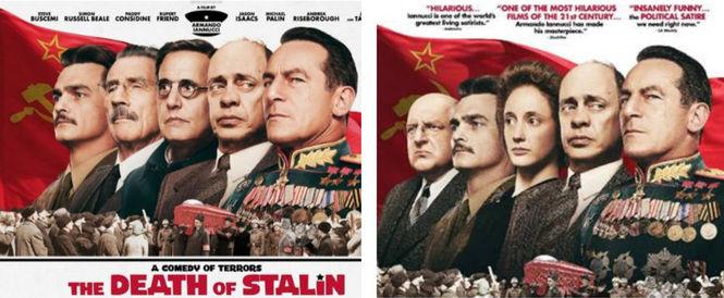 Оригинальный постер (слева) и американский (справа)
