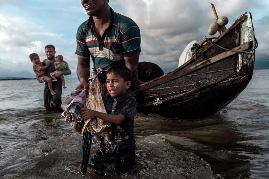 Переселенцы, бежавшие из Мьянмы / Фото: Адам Дин
