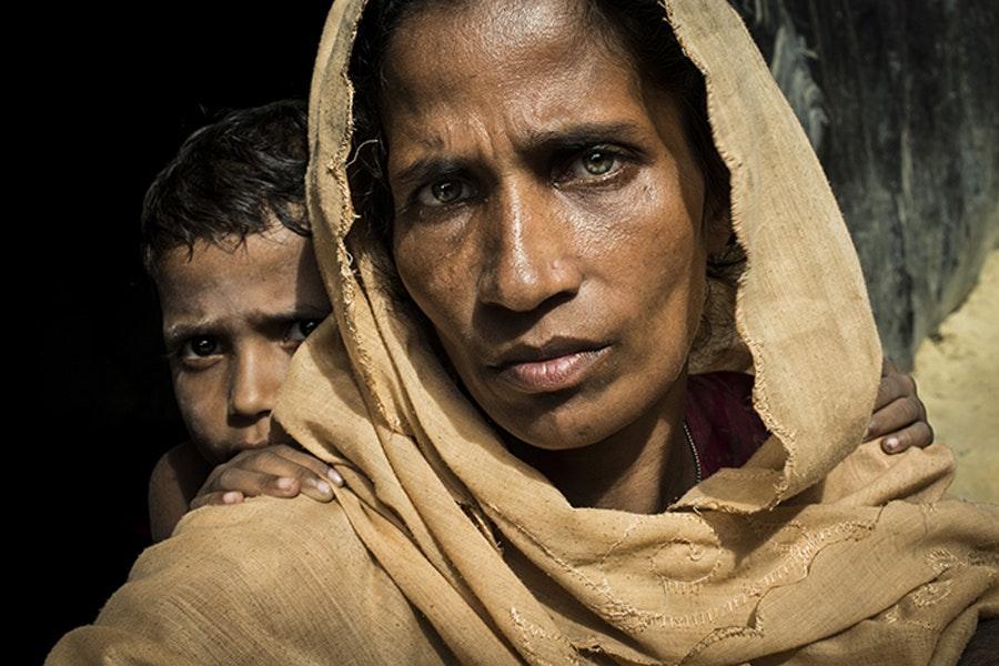 40-летняя Рахима Катун, которой вместе с семьей пришлось бежать из Мьянмы в Бангладеш / Фото: Асгер Ладефогед