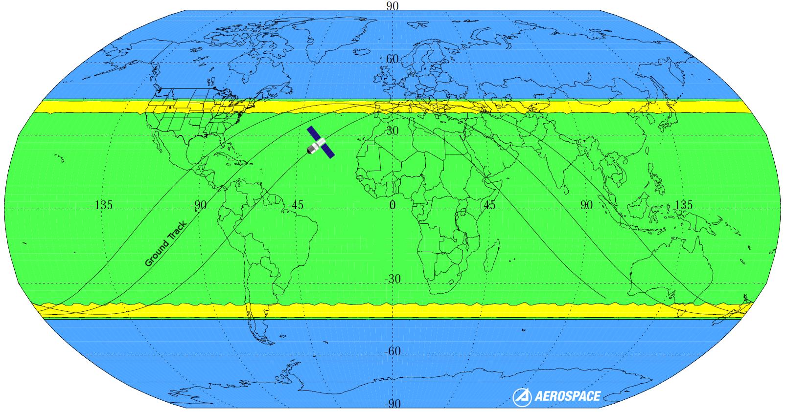 Зона, где может обрушиться китайская орбитальная станция, находится между 42 градусом северной и 43 градусом южной широты