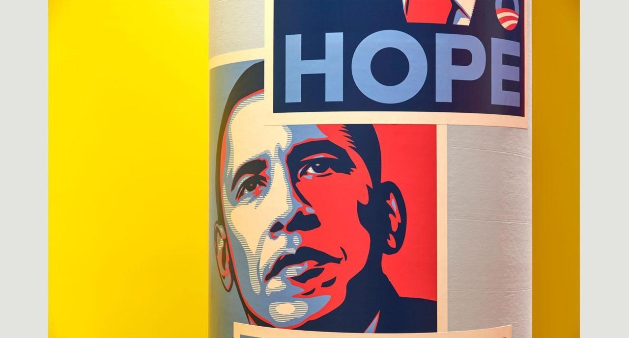 """Плакат Шепарда Фэйри """"Надежда"""""""